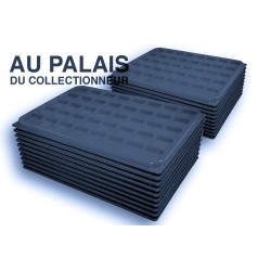 .Plateaux feutrine (carrées) noir X100 avec couvercle LOT N°ncc100