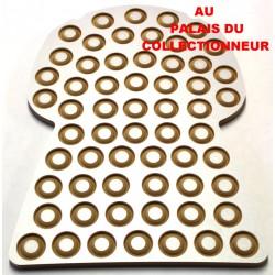 .Présentoir bois bouchon 59cases LOT N°M31A placage ALUMINO Nouveau