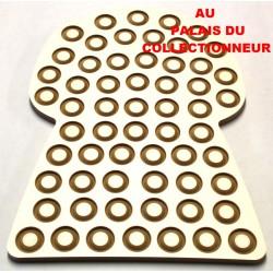 .Présentoir bois bouchon 59cases LOT N°M31C placage CREMA Nouveau