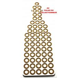 .Présentoir bois bouteille 60cases LOT N°M42A placage ALUMINO Nouveau