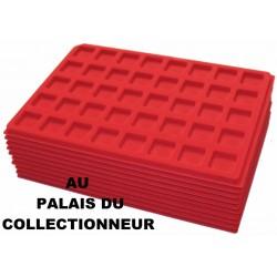 .Plateaux feutrine rouge (clipsables carrées)X10 CLR10