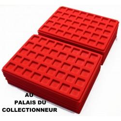 .Plateaux feutrine rouge (clipsables carrées)X100 CLR100