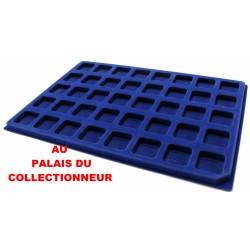 .Plateaux feutrine bleue (clipsables carrées)X1 CLB1