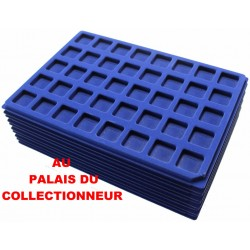 .Plateaux feutrine bleue (clipsables carrées)X10 CLB10