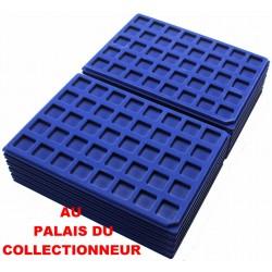 .Plateaux feutrine bleue (clipsables carrées)X100 CLB100