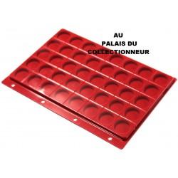 .Plateau feutrine rouge + couvercle perforé pour classeur standard x1 FTR1