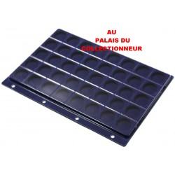 .Plateau feutrine bleue + couvercle perforé pour classeur standard x1 FTB1