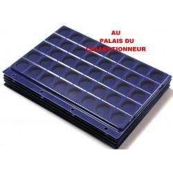 .Plateaux feutrine bleue + couvercles perforés pour classeur standard x5 FTB5