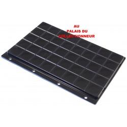 .Plateau feutrine noire + couvercle perforé pour classeur standard x1 FTN1
