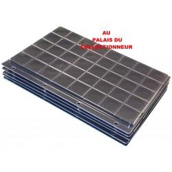 .Plateaux feutrine noire + couvercles perforés pour classeur standard x5 FTN5