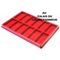 .Plateau pour médailles militaires feutrine rouge X1 LOT N°MM