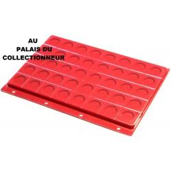 .Intercalaires x5 rouge pour pièes de 2 euros pour classeur standard FESR5