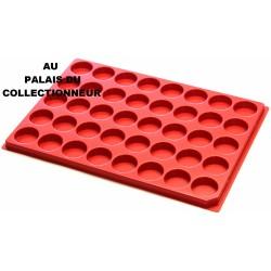 .Plateaux plastique rouge alvéoles rondes X1 LOT 1ARPR1