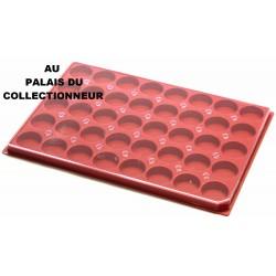 .Plateau plastique rouge rondes avec couvercle X1 LOT N°1ARPRC1