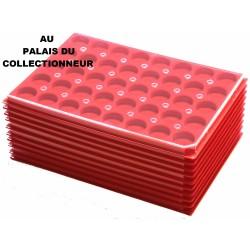 .Plateaux feutrine (rondes) avec couverclesX10 LOT 1ARFRC10