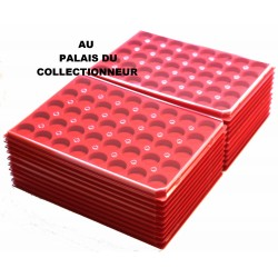 .Plateaux feutrine (rondes) avec couverclesX100 LOT 1ARFRC100
