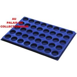 .Plateaux feutrine (rondes) bleu X1 LOT 1ARBR1