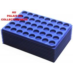 .Plateaux feutrine (rondes) bleu X10 LOT 1ARBR10