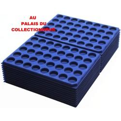 .Plateaux feutrine (rondes) bleu X100 LOT1ARBR100