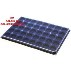.Plateaux feutrine (rondes) bleu avec couvercleX1 LOT ARBRC1