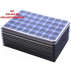 .Plateaux feutrine (rondes) bleu avec couverclesX10 LOT ARBRC10