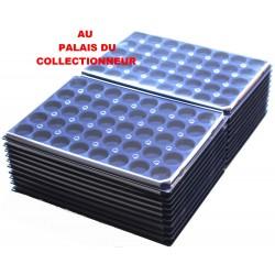 .Plateaux feutrine (rondes) bleu avec couverclesX100 LOT ARBRC100