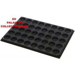 .Plateaux feutrine (rondes) noir X1 LOT 1ARNR1