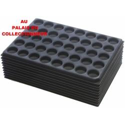 .Plateaux feutrine (rondes) noir X10 LOT 1ARNR10