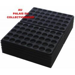 .Plateaux feutrine (rondes) noir X100 LOT1ARNR100