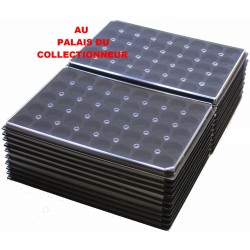 .Plateaux feutrine (rondes) noir avec couverclesX100 LOT ARNRC100