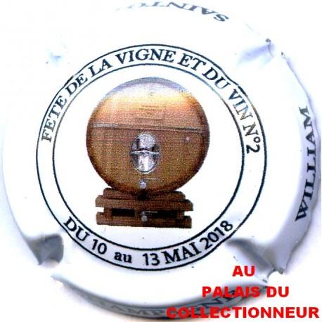 Capsule de champagne Saintot William N°6a fete de la vigne