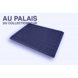 .plateau+couvercle 70 cases FEUTRINE bleu X1 LOT N°M109