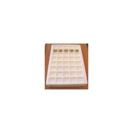 .Plateaux plastique blanc LOT N°M 6