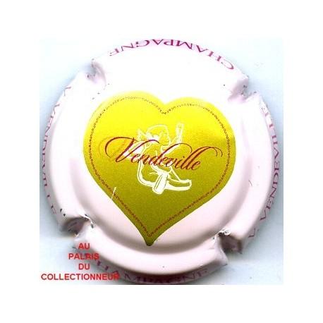 1. fond rose pâle Capsule de champagne VENDEVILLE V.